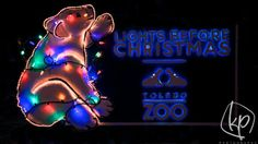 Lights Before Christmas at the Toledo Zoo. Photography of Christmas Lights