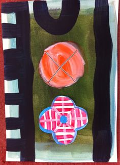 judithbfarr: Acrylic and collage on paper