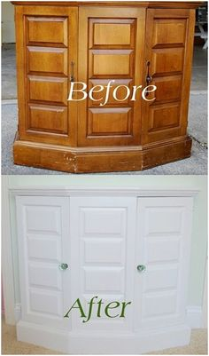 Centsational Girl » DIY: Painted Thrift Store Cabinet - finally something to do with the old wood cabinet