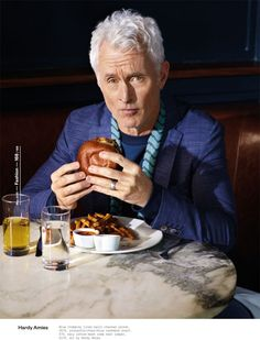 Mad Men star John Slattery poses for ESQUIRE Magazine UK photographed by Neil Gavin with elegant styling from Eric Nicholson at Atelier Management. John Slattery, Esquire Uk, Uk Magazines, Dapper Dan, Modern Gentleman, Mad Men, Poses, Stars, Buns