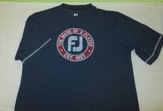 FOOTJOY  Golf T Shirt Sz M Medium - Blue - FJ MARK OF A PLAYER - Poly Spandex  #FootJoy #TShirt