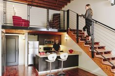 Ny Loft, Loft House, Bedroom Loft, Stairways, Lofts, Barn, Furniture, Home Decor, Ideas
