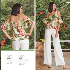 Modelos Fashion, Casual Chic, Floral Tops, Capri Pants, Divas, Trendy Fashion, Dresses, Women, Models