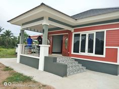 รีวิว สร้างบ้านชั้นเดียวสไตล์สมัยนิยม ขนาด 3 ห้องนอน 2 ห้องนอน พื้นที่ใช้สร้อย 120 ตรม. Modern Bungalow House Design, Small House Design, My House Plans, Sweet Home, Luxury, Outdoor Decor, Bmw M3, Home Decor, House Ideas
