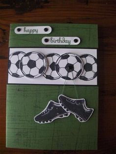 soccer - Homemade Cards, Rubber Stamp Art, & Paper Crafts - Splitcoaststampers.com