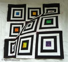 3D Illusion Quilting Pattern | quilts and more: 3D Log Cabin fertig / finished