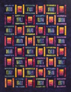 Starr Designs Spoolin' Around Double Hand Dyed Quilt Kit