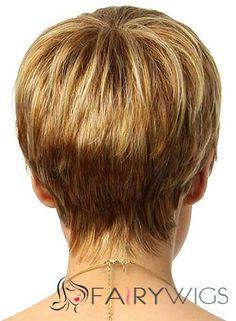 Natural Short Straight Blonde 8 Inch Human Hair Wigs