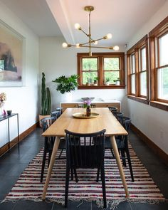 Cozy Mid Century Dining Room Design And Decor Ideas - There are many furniture types and designs that you can always acquire to furnish your home at any one given time. You can go for classical types that. Light Wood Dining Table, Modern Dining Room Lighting, Midcentury Modern Dining Table, Black Dining Chairs, Walnut Dining Table, Elegant Dining Room, Dining Room Design, A Table, Arm Chairs