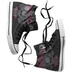 """#Scarpe sportive """"Zip Sneaker"""" della collezione #RockRebelbyEMP. Etichetta conetichetta circolare laterale e stringhe nere. Le cerniere laterali possono essere aperte completamente per indossare e togliere le scarpe più agevolmente."""