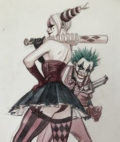 I'm Rachel & I love comics. Harley Quinn is my everything and I literally would die for her. Gotham City Sirens are my squad. Der Joker, Joker Art, Batman 2, Batman Stuff, Harley Quinn Drawing, Joker And Harley Quinn, Catwoman, Batgirl, Poison Ivy Dc Comics