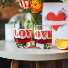 His & hers love glasses drinks tumblers retro shot glass gift Cocktail Making Kit, Love Slogan, Baby Milestone Cards, Leather Bookmark, Letterbox Gifts, Personalized Wine, New Home Gifts, Order Prints