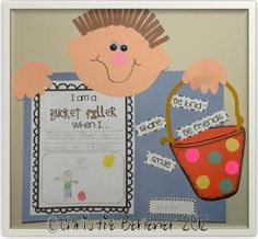 """Are you a Bucket Filler??? I was TOTALLY excited when our counselor told me that she was doing the """"Bucket Filler"""" character ed program thi..."""