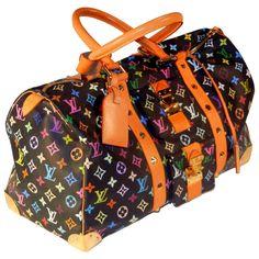 a84d36e86663 Louis Vuitton Monogram Multicolore Noir KeepAll 45 Bag