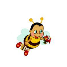 View album on Yandex. Bee Clipart, Buzz Bee, Little Barn, Bee Party, Pet Rocks, Bee Theme, Gif Animé, Classroom Themes, Ladybug
