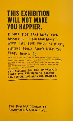 Stefan Sagmeister: The Happy Show