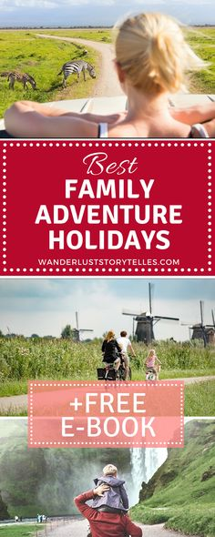 Best family vacations for adventure-lovers! Click to see which family destinations you should not miss! Plus receive a FREE eBook! .......................................................................................................... Family Holiday Ideas | Family Vacation Destinations | Family Adventure | Travel with Kids | Family Travel #Kids #familytravel #travelblog