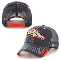 Men's '47 Brand Navy Denver Broncos Turner Clean Up Adjustable Hat