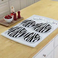 Set of 4 Animal Print Burner Covers from Ginny's ® | JW60474