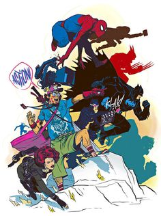 Fan Boy Superheroes Comic Style Geek Art By Nathan Fox Illustrators, Geek Art, Original Art Prints, Fox Illustration, Nathan Fox, Comic Book Art Style, Comic Book Style, Graphic Illustration, Art