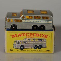 Lesney Matchbox Greyhound Bus #66C NMIB 1967