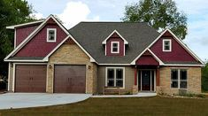 Oak Mountain Cottage is a rustic style house plan with a two car garage and vaulted family room. It has three bedrooms and will work great for a small family.