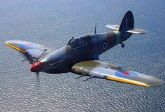 "Hawker Hurricane In the color markings of No. 1 Squadron JX-E ""The Night Reaper""."