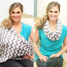 An infinity scarf that doubles as a nursing cover