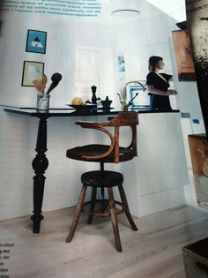 Great kitchen idea. From Boligmagasinet/ Danmark.