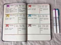 Less is More. Bullet journal spread.