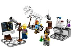 """Explore the world and beyond at the Research Institute!  The long-awaited LEGO female scientists set has just been released featuring a paleontologist, an astronomer, and a chemist! To view the new """"Research Institute"""" set on LEGO, visit http://bit.ly/1tH54tt <3"""