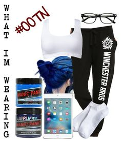 """""""OOTN What Im Wearing: Volleyball Prac. Kicked My A$$ Today"""" by raine-wwe ❤ liked on Polyvore featuring Forever 21, Xhilaration, Manic Panic, women's clothing, women's fashion, women, female, woman, misses and juniors"""