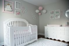 Pink and Gray Baby Girl Nursery Tour – Oh She Glows