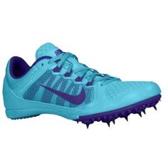 Nike Zoom Rival MD 7 - Girls' Grade School - Gamma Blue/Electro Purple | Pearl sprint spikes