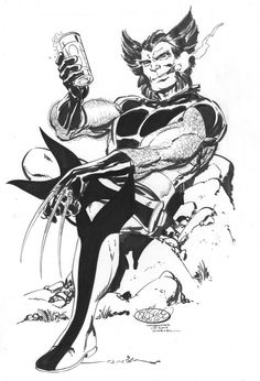 Wolverine commission by John Byrne. 2015