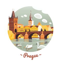 Prague, by Olga Serova on Behance.