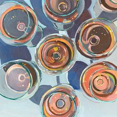 wine glasses from above Art And Illustration, Painting Inspiration, Art Inspo, Kunst Inspo, Chef D Oeuvre, Wow Art, No Photoshop, Pretty Art, Graphic
