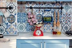 These patchwork wall tiles are great for adding some colour and interest to any kitchen or bathroom.There are 27 different designs and each box will be a random mix of colours and patterns.These porcelain tiles are suitable for use as both wall and floor tiles and can even be used outside.  Orders are completed on a 2-3 day service.