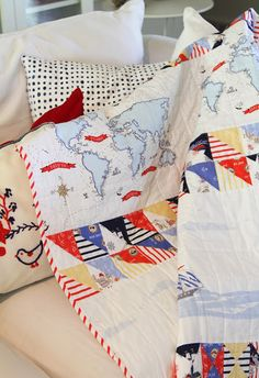 Diary of a Quilter - a quilt blog: Sarah Jane Out to Sea Baby Quilt tutorial