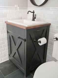 Rustic farmhouse bathroom makeover ideas (71)