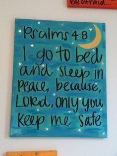 Bible verse canvas Psalms 4:8