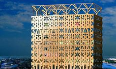 Designed by Anders Berensson Architects, the proposed wooden skyscraper would sit atop a historic Brutalist architecture. Brutalist Buildings, Timber Buildings, Building Structure, Green Building, Beautiful Architecture, Architecture Design, Futuristic Architecture, Contemporary Architecture, Wooden Skyscraper