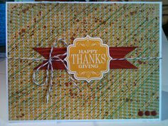 Stampin' in the Sun!: Tag 4 You for Thanksgiving