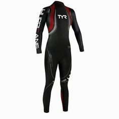 TYR Women's Hurricane Category 5 Wetsuit Small/Medium-S/M-Black/Red-New #TYR
