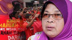 Baju Merah cemari Hari pembentukan Malaysia - http://malaysianreview.com/144019/baju-merah-cemari-hari-pembentukan-malaysia/