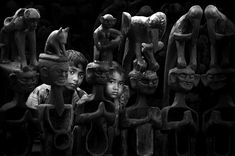 "Honorable Mention – ""Among the masks"" by Sanghamitra Sarkar, India 