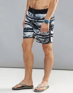 Billabong Lineup Layback Swim Shorts With All Print 17 Inch