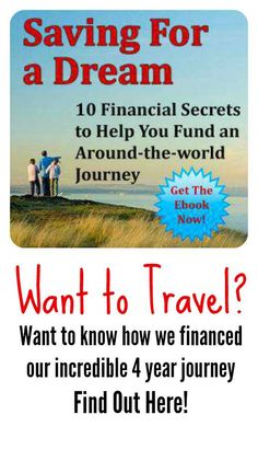 We got ourselves out of debt and saved $100.000 in just four years. We left to travel the world indefinitely, not owing a cent! Find out how we did that and had the most amazing family travel adventure, right here! http://thenomadicfamily.com/saving-for-a-dream/