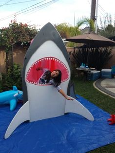 Kids photo op. This Shark cut out is available for rent for ur kids Shark parties. Contact ne, Joe at joelocal13@gmail.com