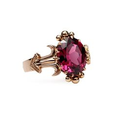 Antique Jewelry Antique Ring with Almandine Garnet c. Antique Engagement Rings, Antique Rings, Antique Jewelry, Vintage Jewelry, Antique Necklace, Antique Silver, Steampunk Necklace, Bling Bling, Women's Accessories